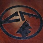 Stained Concrete Concrete Logo Engraving