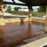 Acid Etch Stained Concrete