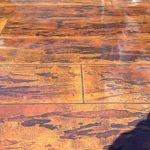Wood Stamped Concrete Overlay Dallas, TX