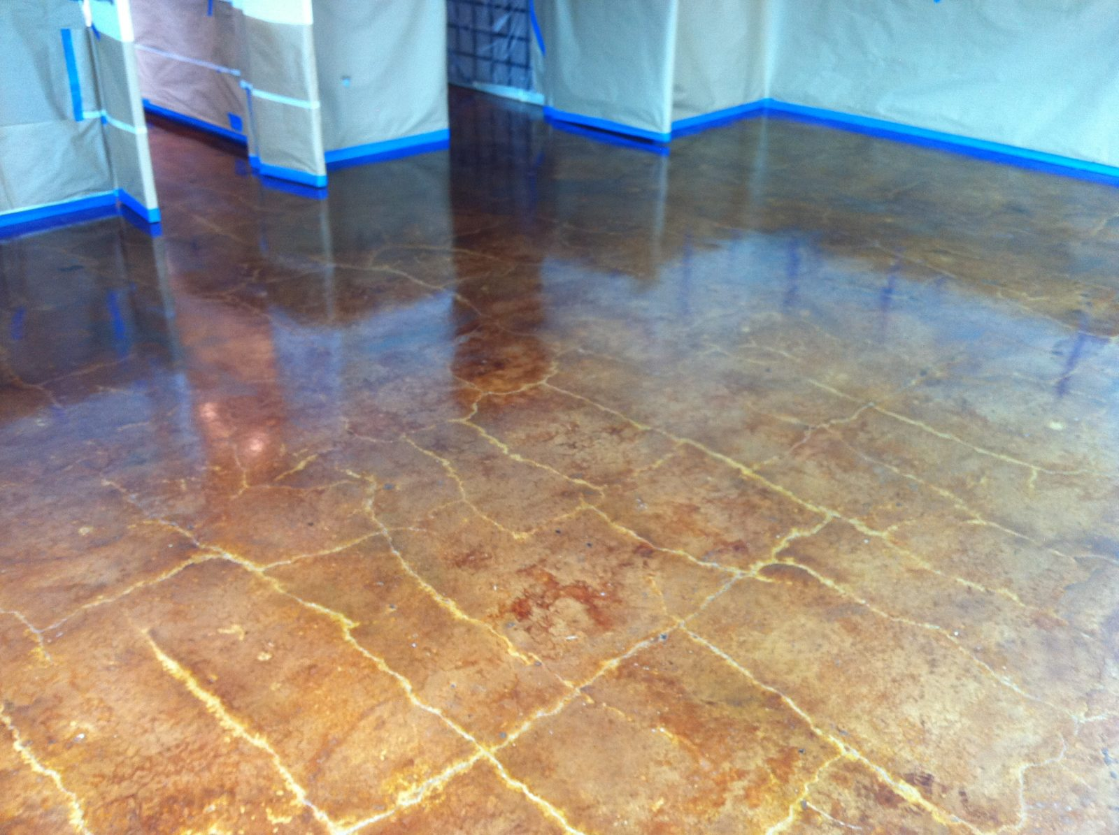 Laying floor tiles on concrete