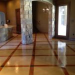 Micro Finish Overlay Acid Stained Concrete