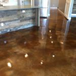 New Construction Acid Stained Concrete