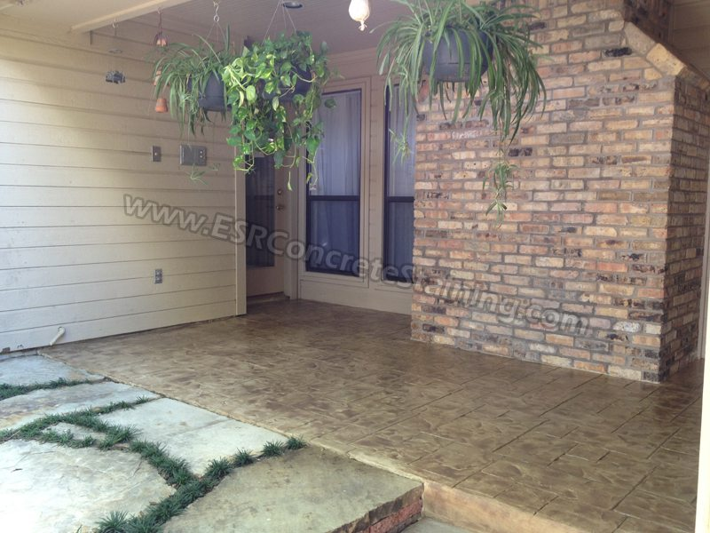 Stamped Concrete Overlay Grand Prairie, TX