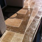 Stamped Concrete Overlay Engraving