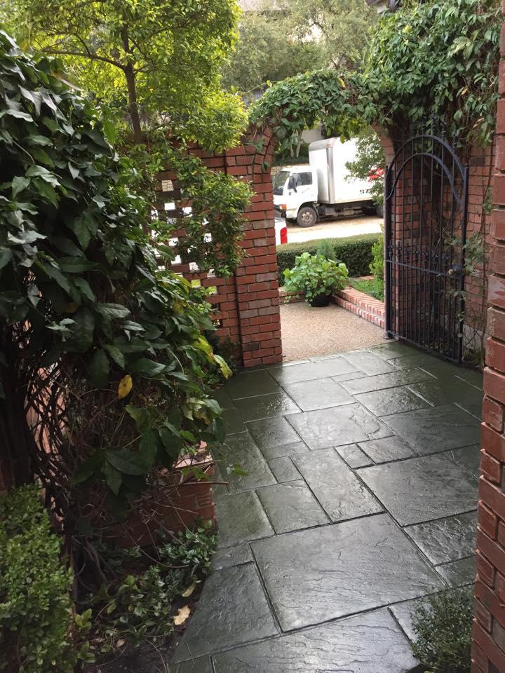 Slate Stamped Concrete Patio