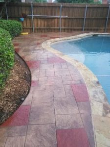 Stamped Concrete Pool Deck Reseal