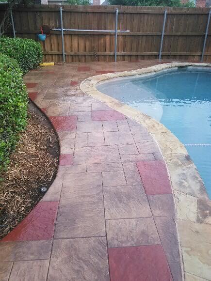 Stamped Concrete Pool Deck Reseal